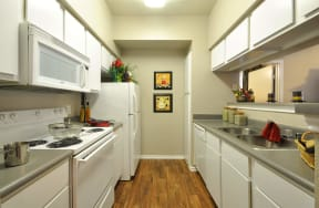 Rich Shaker Style Cabinetry at Stoneleigh on Cartwright Apartments, J Street Property Services, Texas