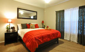 Well Lighted Master Bedroom at Stoneleigh on Cartwright Apartments, J Street Property Services, Texas