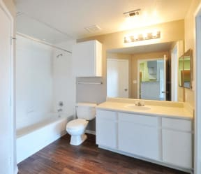 Modern Lightning in Bathrooms at Stoneleigh on Cartwright Apartments, J Street Property Services, Balch Springs, 75180