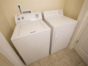 Town-home Washer/Dryer Connections