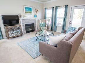 Sonoma Living Room With Gas Fireplace