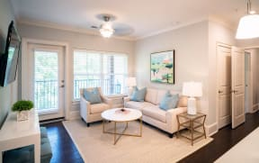 Living Room | 511 Queens Apartments Charlotte NC
