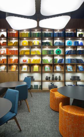 The Q Variel Business Center desks and tables
