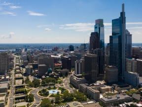 Logan Circle and the Philadelphia skyline