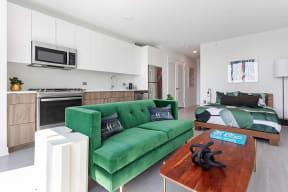 Lincoln Common Studio Kitchen Living Area