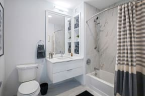Lincoln Common One Bedroom Apartment Bathroom