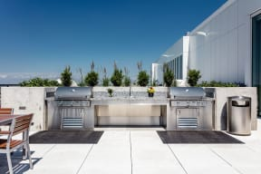 Lincoln Common Rooftop Grilling Area