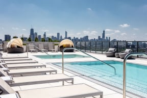 Apartments at Lincoln Common South Tower Rooftop Pool and Hot Tub
