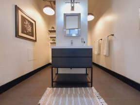 Mercantile Lofts Interior Bathroom