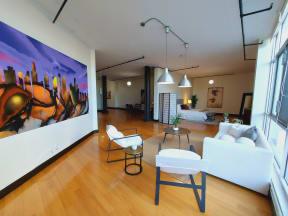 Mercantile Lofts Interior Living Space