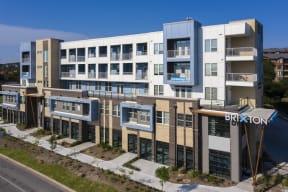 exterior building view at Brixton South Shore, Austin, TX, 78741