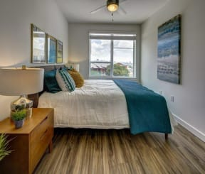 side view of the bedroom at Brixton South Shore, Austin, TX