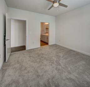 guest bedroom with carpet at Brixton South Shore, Texas