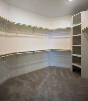 walk in closet with shelving at Brixton South Shore, Austin