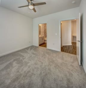 master bedroom with carpet at Brixton South Shore, Austin, Texas