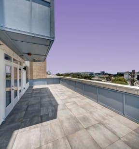 balcony view over the horizon at Brixton South Shore, Austin, 78741