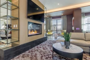 Clubhouse Fireplace | The Core Natomas in Downtown Sacramento