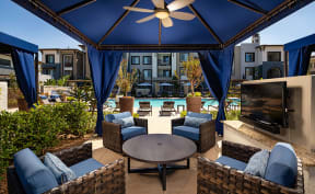 Apartments Downtown Sacramento-The Core Natomas Poolside With Cabanas, Picnic Area, and Shaded Tables/Seating