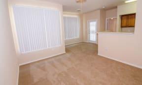 Portofino Senior Apartments spacious floor plans and living room