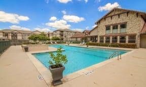 Portofino Senior Apartments Poolside Lounge Area