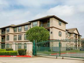 Portofino Senior Apartments gated community front gate