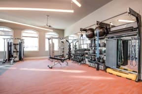 Apartments in Chandler-The Core Chandler 24-Hour Fitness Center with Cardio Equipment and Free Weights