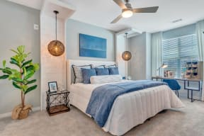 Bedroom With Expansive Windows at Alta Croft, North Carolina