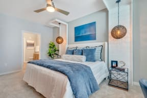 Bedroom With Ceiling Fan at Alta Croft, North Carolina, 28269