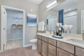 Bathroom With Adequate Storage at Alta Croft, Charlotte, North Carolina