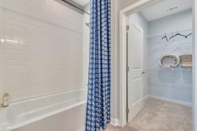 Large Soaking Tub With Tile Backslash at Alta Croft, Charlotte