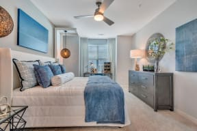 Beautiful Bright Bedroom With Wide Windows at Alta Croft, Charlotte, NC