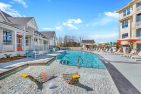 Swimming Pool And Relaxing Area at Alta Croft, Charlotte, NC