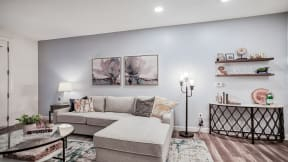 Cozy White Corner Sofa at Oak Grove in MA