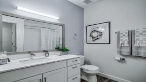 Modern Bathrooms with Extra Storage Space at Windsor at Oak Grove, Melrose, 02176