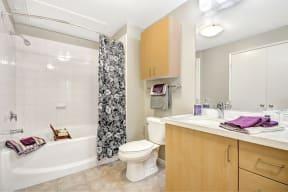 Modern Bathrooms with Quartz counters at Terraces at Paseo Colorado, 375 E. Green Street, CA
