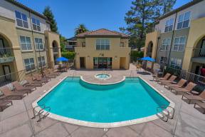 Outdoor Pool at Villa Montanaro,203 Coggins Drive Pleasant Hill, CA 94523