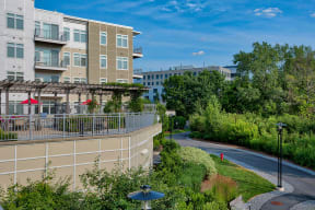 Beautifully Landscaped Grounds at Vox on Two, Cambridge, MA