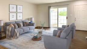 luxury vinyl flooring throughout the living space at Windsor Village at Waltham, 02452, MA