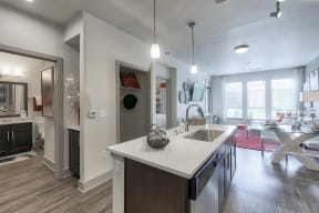 Open-concept kitchen at Windsor at Pinehurst Lakewood, Colorado