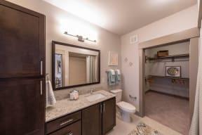 Bathroom with Ample Storage at Windsor Old Fourth Ward, Atlanta, Georgia