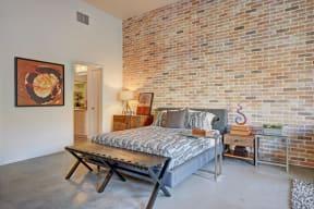 Loft syle studios with brick accent wall at Terraces at Paseo Colorado, Pasadena, 91101
