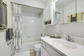 Bathroom with Ample Storage at Windsor Village at Waltham, Waltham, 02452