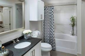 Abundant Bathroom Storage Space at Windsor Oak Hill, Austin, Texas