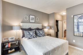 Master Bedroom with Attached Bathroom at The Ridgewood by Windsor, 4211 Ridge Top Road, Fairfax