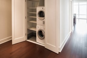 Full-Size Washers and Dryers at The Aldyn, 60 Riverside Blvd., New York, NY 10069