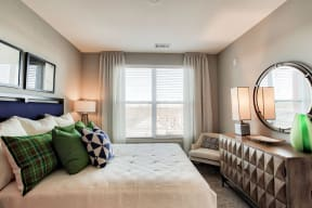 Plush carpet in the bedroom at The Ridgewood by Windsor, Fairfax, Virginia