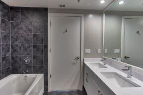 Spacious Bathrooms at IO Piazza by Windsor, Arlington, 22206