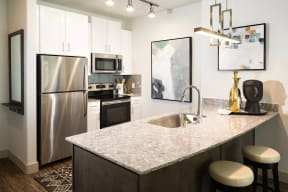 Gourmet chef kitchens at Metro West, Plano, 75024