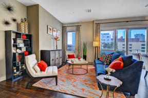 Modern Apartments with Large Windows at South Park by Windsor, California, 90015