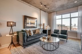 Well Lit Living Spaces at Crescent at Fells Point by Windsor, 21231, MD